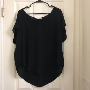 Blouse with Pleat Back